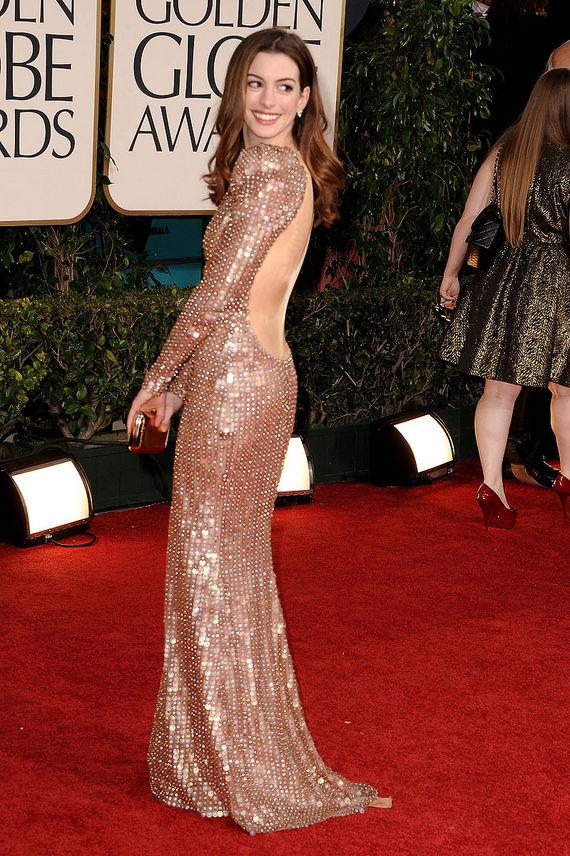 Anne Hathaway 2011 Golden Globes
