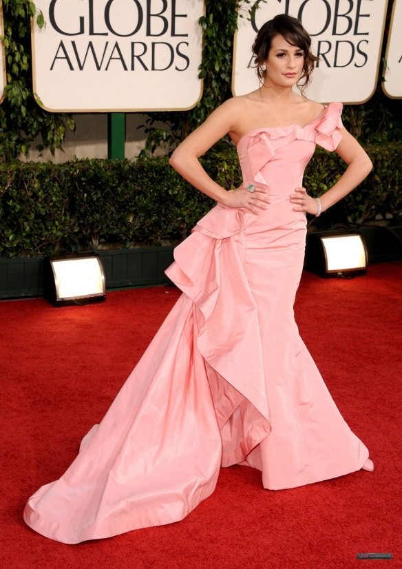 Leah Michele at the 2011 Golden Globes