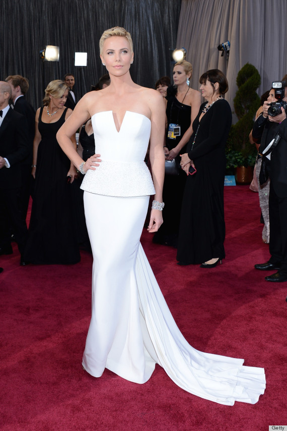Chalize Theron at the 2013 Oscars