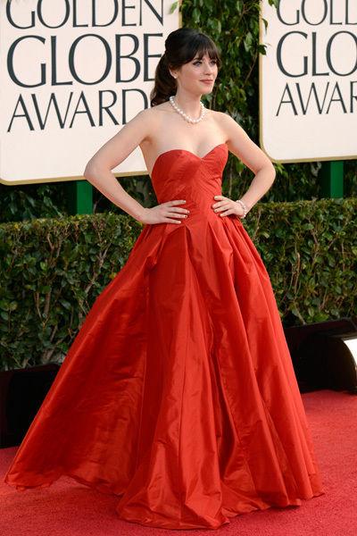 Zooey Deschanel at the 2013 Golden Globes